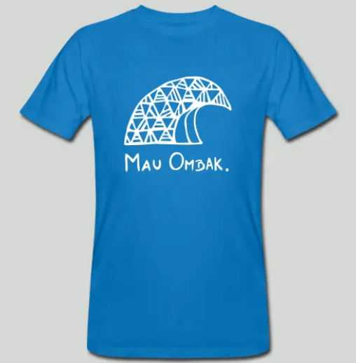 MauOmbak One wave blue shirt